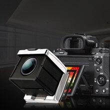GGS visor de acero dorado para cámara Canon, Nikon, Sony, marco de sombrilla, máscara ocular SLR