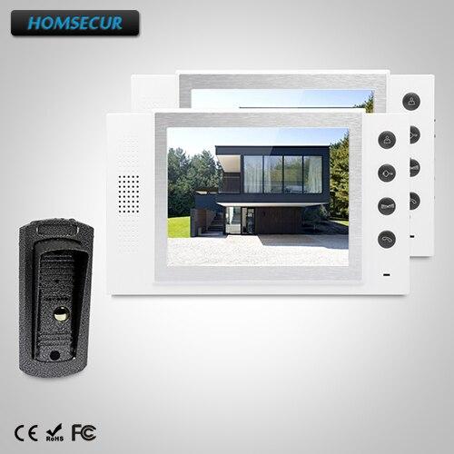 HHOMSECUR 8 Hands-free Video Door Phone Intercom System+Outdoor Monitoring  TC041 +  TM801-WHHOMSECUR 8 Hands-free Video Door Phone Intercom System+Outdoor Monitoring  TC041 +  TM801-W