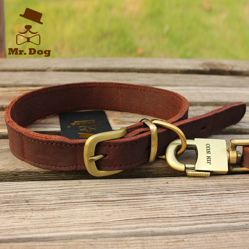 Cowhide Leather Dog Collars