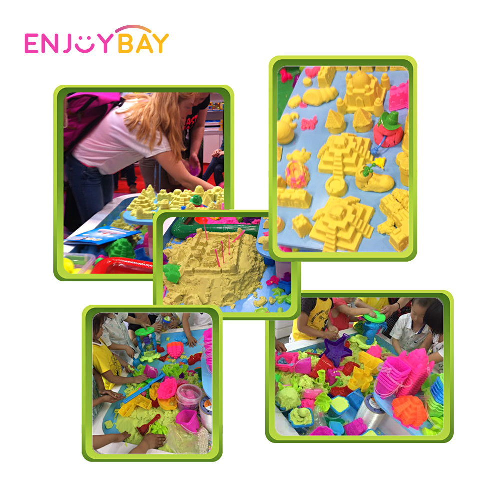 Enjoybay Colorful PVC Inflatable Sand Tray Plastic Mobile Table Toy Set Beach Play Sand Table Outdoor Funny Toys for Children