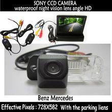 2.4 ГГц передатчик CCD камера заднего вида автомобиля с зеркалом монитора для Benz C — класса W203 e-новые класса W211 CLS — класс 300 W219 R350 R500