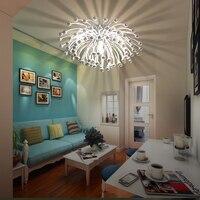 ZX Лучшая цена Современный Милан Италия светодиодный потолочный светильник творческий Гостиная Спальня E27 хризантемы Освещение закрытый св
