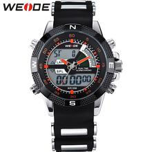WEIDE Famous Brand Mullifunctional Red Hands Watches Alarm LED Display Men Quartz Outdoor Fun & Sports Watches Relogio Masculino цена