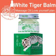 White Tiger Balm ointment for Stomachache Headache Toothache tiger Pain Essential oil Relieving Balm use for Dizziness 15g*2pcs