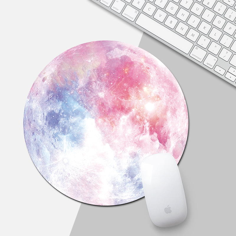 Beautiful Computer Mouse Padding Rubber Thickening Cartoon Round Animal Penguin Mouse Pad 20CM For MacBook Xiaomi Lenovo