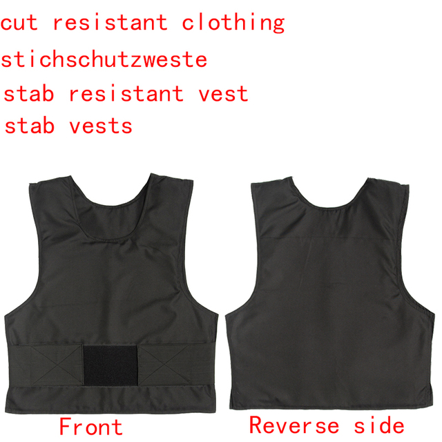 polymer materials self defense stab resistance vest  schutzweste cut resistant police tactical cut resistant clothing body armor