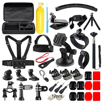 Suptig For Gopro Hero 6 Accessories Set Chest Helmet Wrist Strap Kit +Handheld Monopod Kit Mount For Gopro Hero 5 4 Session 3+ 4
