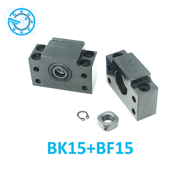 цены Free shipping BK15 BF15 Set : one pc of BK15 and one pc BF15 for SFU2005 SFU2010 Ball Screw End Support CNC parts XYZ