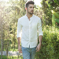 SIMWOOD 2018 Spring Summer Shirts Men Fashion Casual Stand Slim Fit Plus Size Brand Clothing High