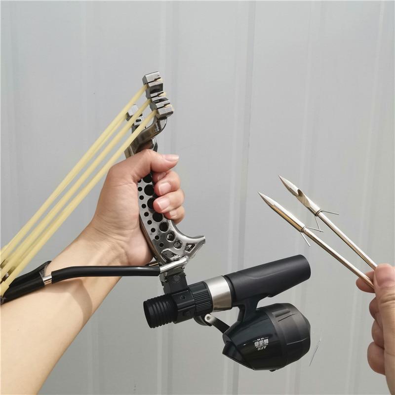 Powerful Multi-function Archery Bowfishing Shooting Fish Slingshot Catapult Hunting Bow Fishing Sling Shot Arrow Kit