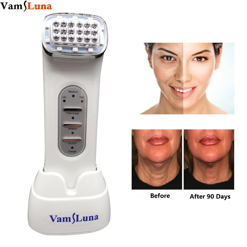 VamsLuna Thermage Facial RF Radio Frequency For Lifting Face, Lift Body SKin, Wrinkle Removal, Skin Tightening Beauty Care therapy led photon rf radio frequency thermage face lifting beauty machine wrinkle removal skin tightening body facial massager