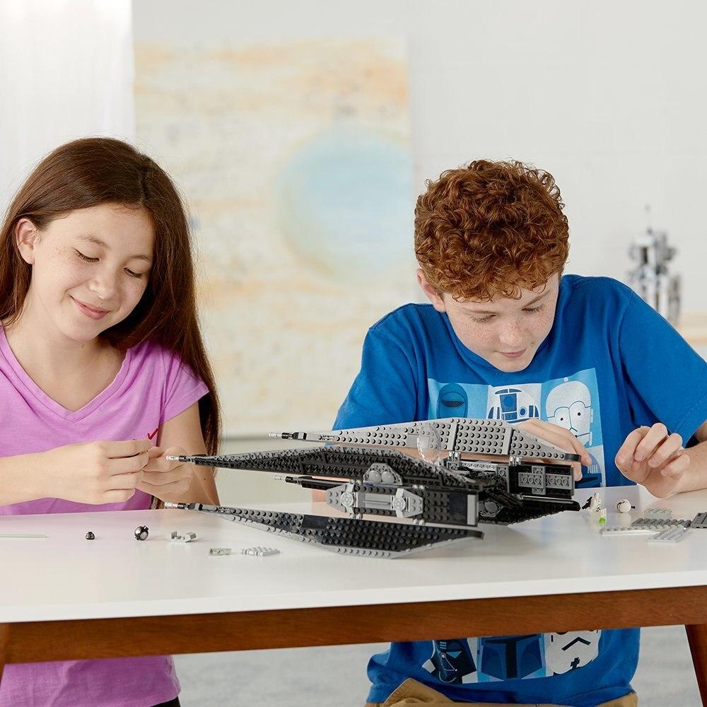 Star Wars Episode VIII Kylo Ren Krawatte Kämpfer Kit Bausteine Spielzeug für Kinder Kompatibel mit Legoings 75179