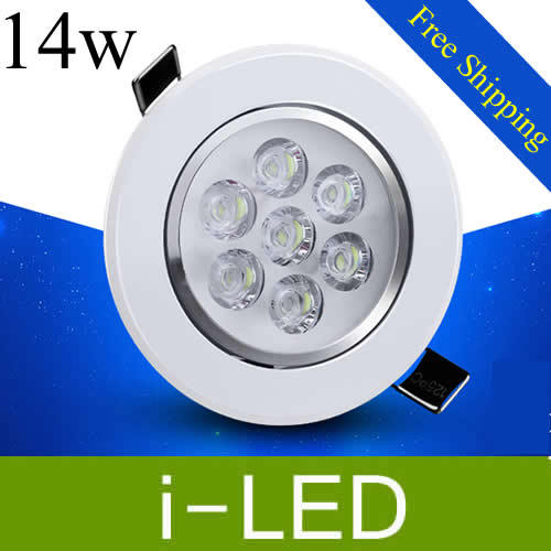 high power cree 14w led downlight dimmable led recessed spot lights for home warm cold white 110-240v indoor led lighting UL CE