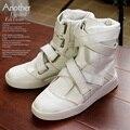 Diseñador de Otoño invierno de la marca de Lujo hombres Lace Up hip hop zapatos de calle zapatos de baile Zapatillas Deportivas Mujer alta zapatos feminino