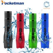 цена на Ultra Bright Colorful Led flashlight 6000 LM linterna led torch T6 5 Switch Modes Zoomable Bicycle Light use 18650 battery