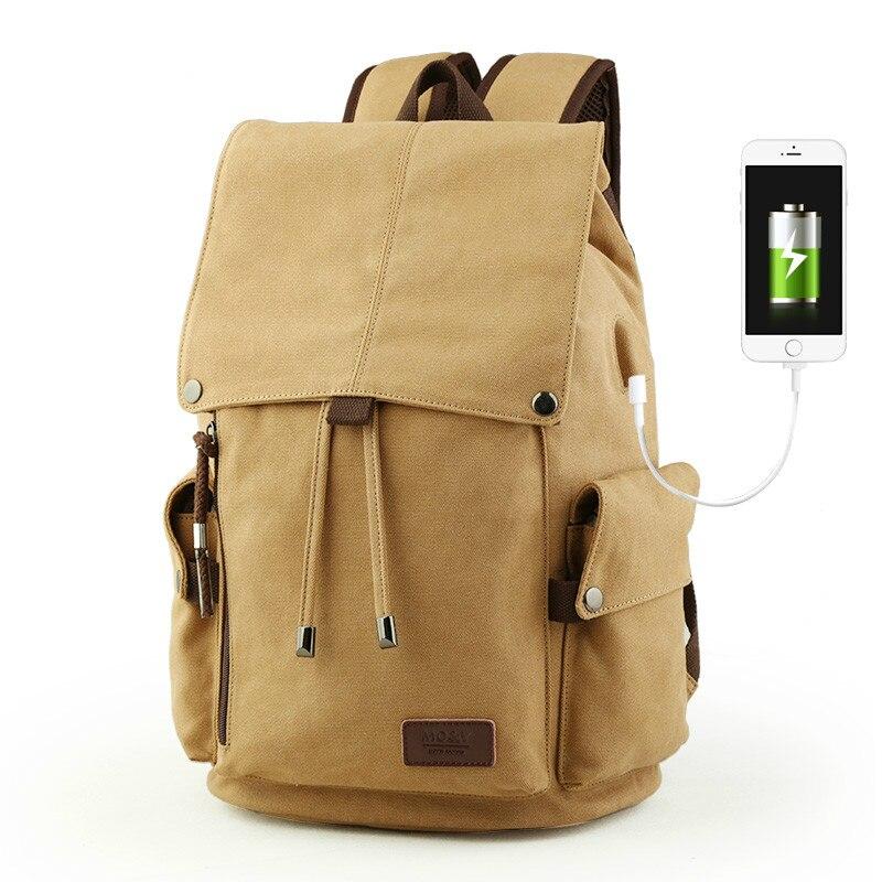 Bag, USB, For, Multifunction, Backpack, Canvas