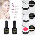 #3632 CANNI 15ml Soak Off Gel Polish LED/UV Nail Gel Base Coat And Top Coat,15ml UV Builder Gel