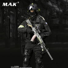 1/6 Scale M-069B Russia Spetsnaz Counter-Terrorism Solider Clothing Sets /FSB Alfa Group 3.0 (Black Ver.) M-069A clothing set for collection solider action figure full set 1 6 78047b russian spetsnaz fsb alpha group male figure standard ver