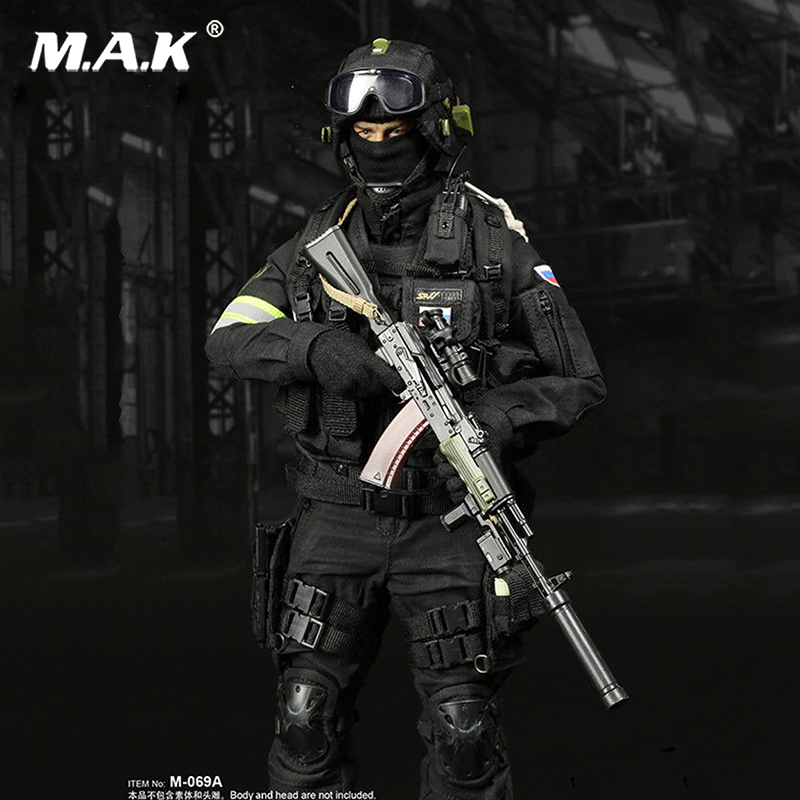 1/6 Scale M 069B Russia Spetsnaz Counter Terrorism Solider Clothing Sets /FSB Alfa Group 3.0 (Black Ver.) M 069A clothing set