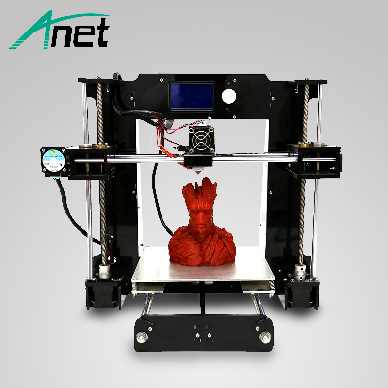 цена на Anet A6 3D Printer High Precision Prusa i3 Reprap Easy Assembly 3D Printer High Quality Cheap Printer 1.75mm Filament Kit HotBed
