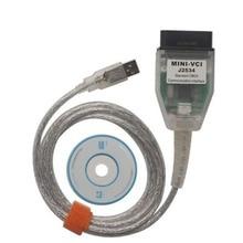 2016 El Más Nuevo MINI VCI Para Los TIS MINI VCI J2534 Herramienta de Diagnóstico Cable MINI-VCI TIS Techstream V10.30.029 Inteface FT232RL Viruta LR10