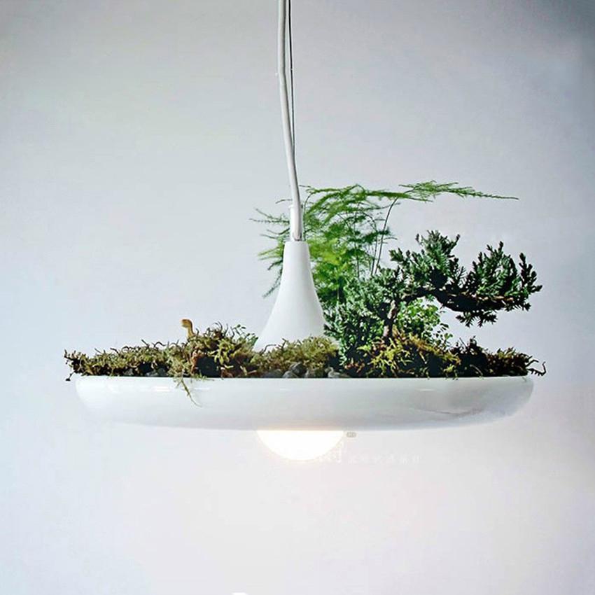 moderna maceta arte deco luces colgantes de aluminio aolly blanco lmpara colgante de