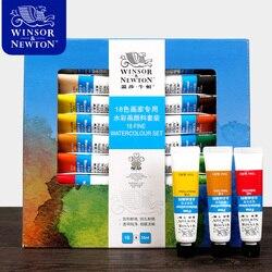 Winsor & Newton 12/18/24 kolory akwarela wysokiej jakości przezroczysty pigment akwarela dla artysty uczeń Acuarelas w Akwarele od Artykuły biurowe i szkolne na