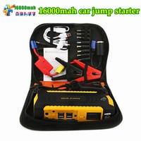 2018 Multi Function 16000mAh 12V Car Jump Starter Car Portable 600A Peak Car Charger 4USB Power Bank Compass SOS Lights