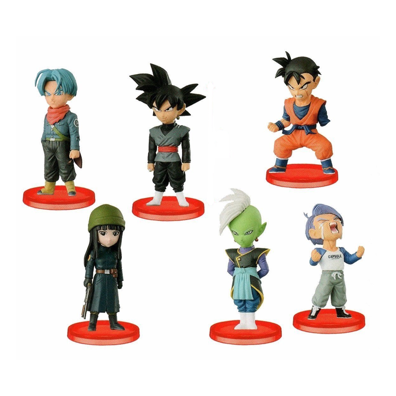 Dragon Ball Super Z WCF World Collectable Figure BATTLE OF SAIYANS Vol.6 Full Set 100% Original original banpresto world collectable figure wcf the historical characters vol 3 full set of 6 pieces from dragon ball z