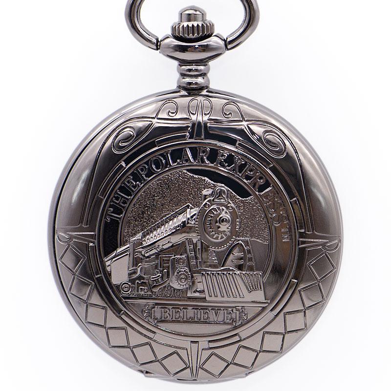 Steampunk Train Vintage Mechanical Pocket Watch FOB Watch Chain Locket Hand Wind Men Reloj De Bolsillo