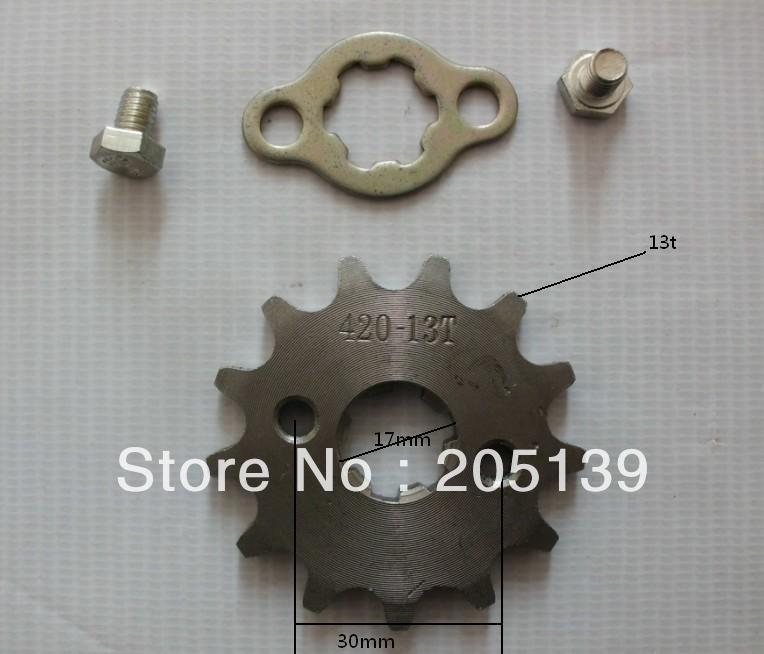 MOTOCROSS MOTOCICLETA scooter 13 tooth 17MM ENGINES gear sprocket FOR 420 CHAIN motorcycle lifan MOTOR PIT