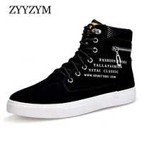 ZYYZYM Casual Shoes High Lace Up Style Rubber Fashion Trend Sneakers Fur Men