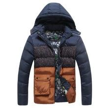 Mens winter jackets and coats Men jacket Splicing collision color More comfortable warm Casual fashion jacket  WZ315