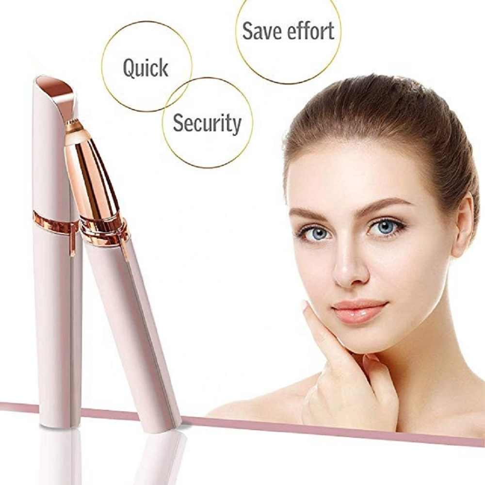 Mini painless electric eyebrow trimmer precision eyebrow epilator pen hot sale electric epilator hair removal rechargeable