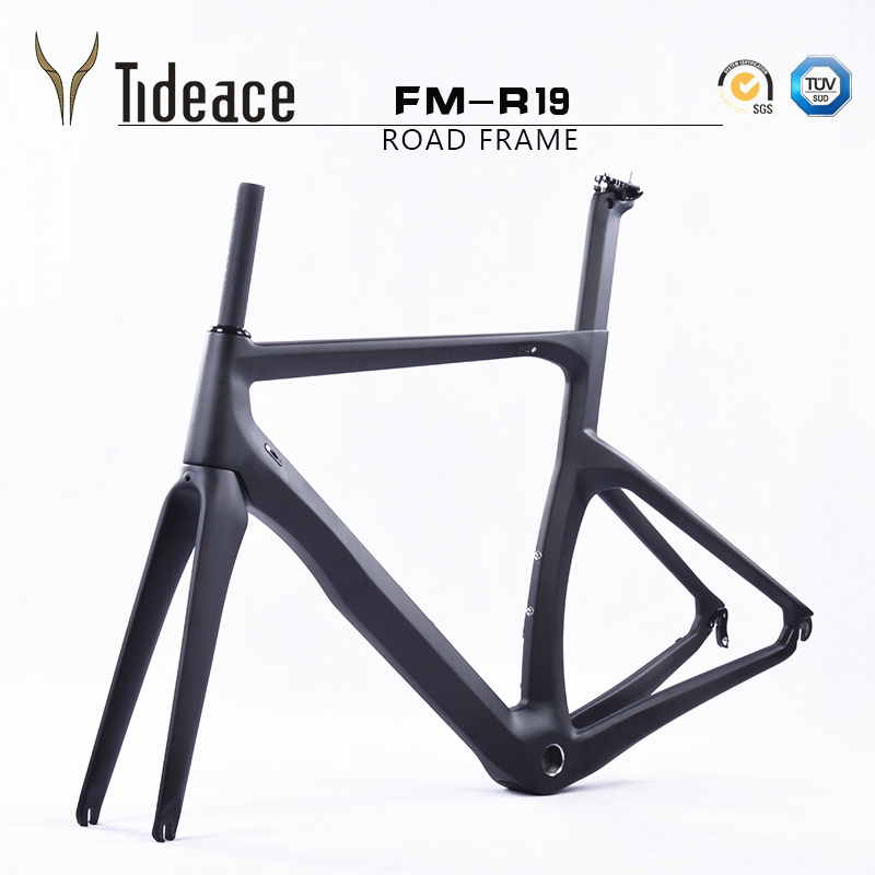 Excellent T1000 1K/3K carbon bike frame carbon road frame racing road bike Chinese carbon bicycle frameset with fork seatpost 53cm 55cm 58cm fixed gear bike frame matte black bike frame fixie bicycle frame aluminum alloy frame with carbon fork