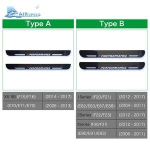 Image 5 - 対気速度 LED ドアシルスカッフプレートガードドア敷居のカー Bmw X5 F15 X6 F16 F20 F21 F30 e90 F10 F11 E60 E70