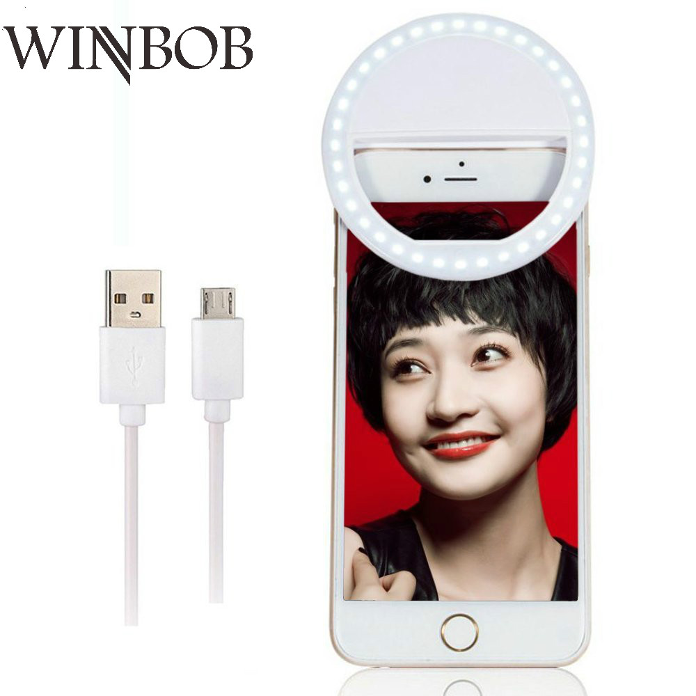 New Arrive USB Charge Selfie Portable Flash Led Camera Phone Photography Ring Light Enhancing Photography for iPhone Smartphone portable flash 36 led camera enhancing photography selfie ring light for smartphone iphone 6 plus 6s 6 5s 5 4s 4 samsung galaxy
