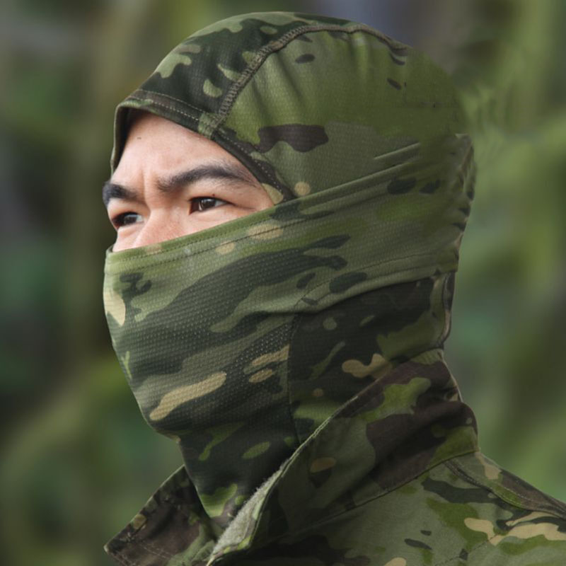 Military Scarf Tactical Balaclava Camouflage Airsoft Hunting Riding Camping Hiking Cycling Face Camo Mask Outdoor Scarves DS005