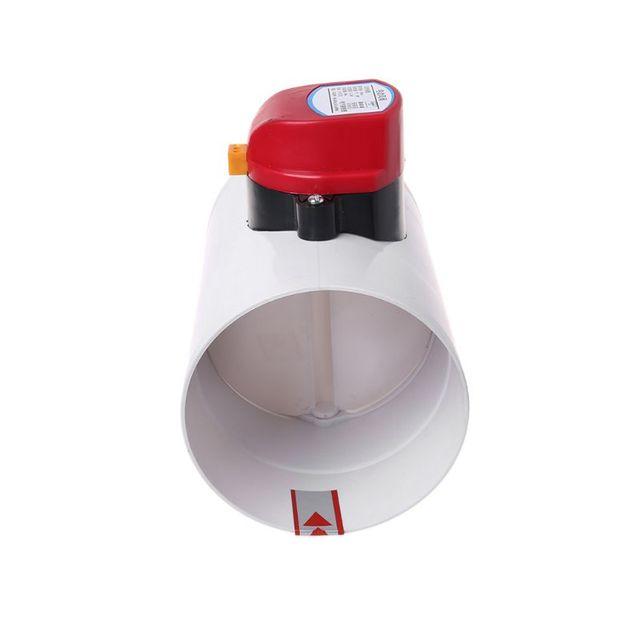 220vプラスチック電動チェックバルブ 110 ミリメートル風量制御弁ため換気パイプ