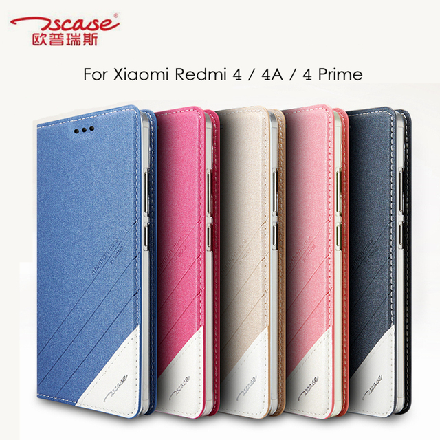 sale retailer 56135 7e3d6 US $9.08 32% OFF|Tscase Cover for Xiaomi Redmi 4 Prime Case for Xiaomi  Redmi 4A / 4 Standard Cover Flip Leather Stand Back Case Protective  Shield-in ...