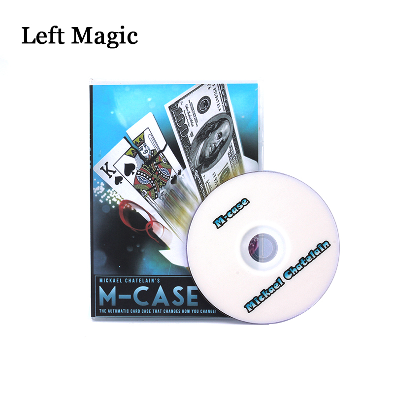M-Case By Mickael Chatelain (Gimmicks+DVD) Magic Tricks Card Magic Props Close Up Magic Comedy Illusions Mentalism