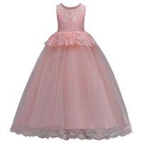 BAOHULU 2018 Rosa Vestidos de Princesa Meninas Teenages Roupa Dos Miúdos Pageant Prom Formal de Projeto Do Casamento Da Festa de Formatura vestido de Baile Vestidos     -