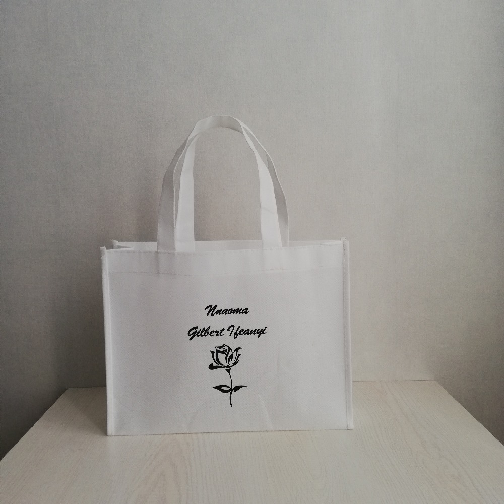 Wholesales 300pcs lot Tote Bags Custom Logo Bags Non Woven Bags Shopping Custom Printed Reusable Eco