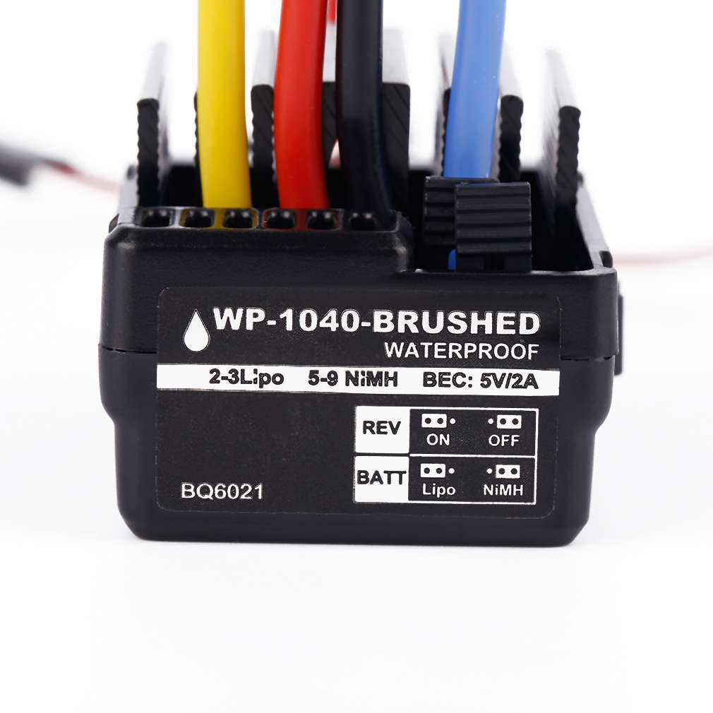 Brand New WP 1040 60A Brushed ESC Controller Waterproof For Hobbywing Quicrun RC Car Motor brand new wp 1040 60a brushed esc controller waterproof for hobbywing quicrun rc car motor