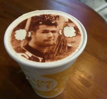 DIY design coffee printer art design beverage biscuit cream cake cookies food chocolate