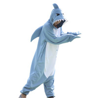 Animal Cosplay Costume Adult Pajamas Unicorn Shark Pug Dog Onesies Cartoon Sleepwear Sleepsuit