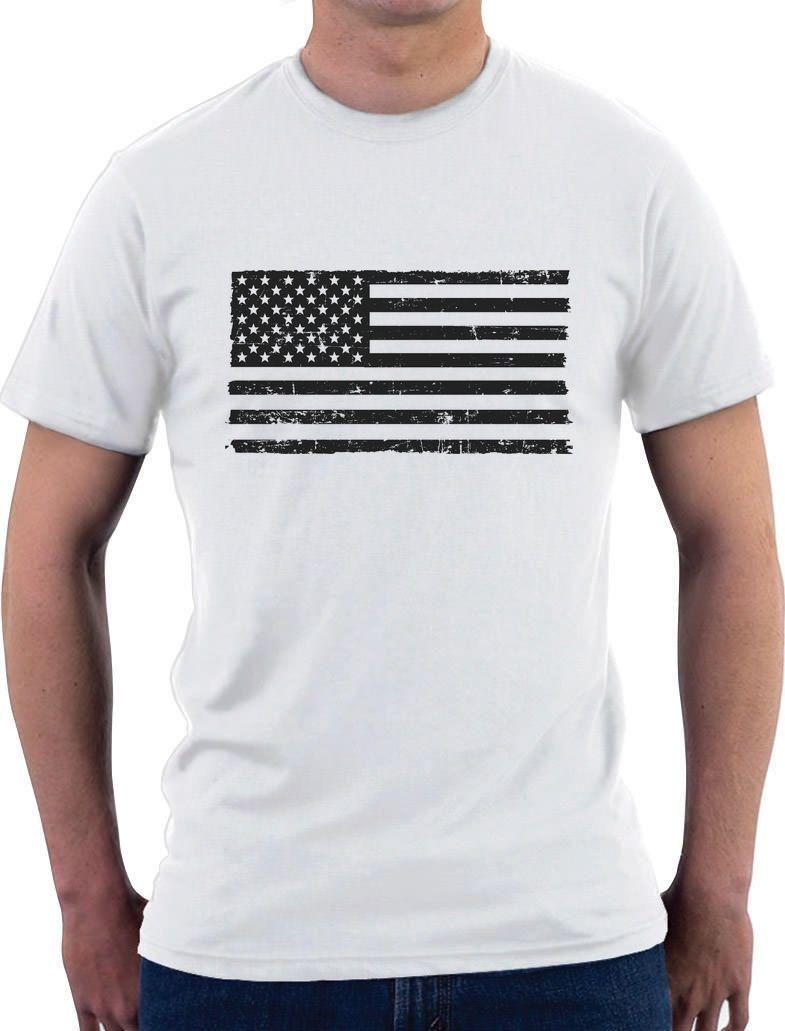 Black flag t shirt vintage - Black American Flag Vintage 4th Of July T Shirt Usa Flag Men T Shirt