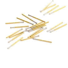 P125-G Spring Test Probe Gold-Plated Test Probe 100/Pcs Probe Convenient And Durable Brass Spring Probe Sleeve Length 33.35mm p125 a2 cup type head test spring thimble 100 pcs pack integrated detection probe tool accessories