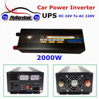 2KW UPS Battery 2000W DC 24V to AC 220v Car Power Inverter With Charger Voltage Converter 24V To 220V Transformer
