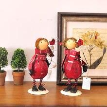 Американский кантри домашнего интерьера ювелирные изделия жестяной кукла Ретро Desktop украшения комнаты декор мебели